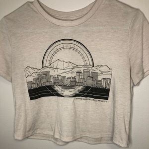 Locally Designed Alaska City Scape Crop Top